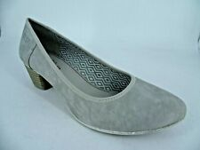 S.Oliver Ladies Grey Court Shoes UK 7.5 EU 41 LN46 48