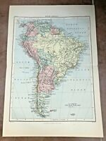 "circa 1880s colour fold out map titled "" south america """