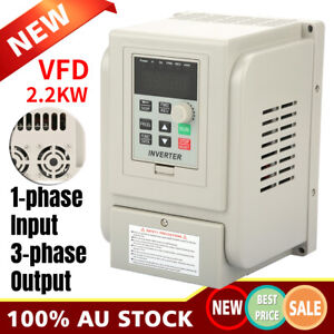 2.2KW Single To 3 Phase VFD Variable Frequency Drive Inverter Speed Converter AU