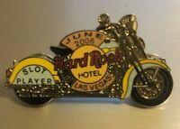 """Hardrock Slot Player Pin (June 2006), Hardrock Casino Las Vegas """"HD Motorcycle"""""""