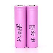 2pcs Genuine Original Samsung INR18650-30Q 3000mAh Rechargeable Li-ion Battery