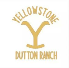 Yellowstone Dutton Ranch Logo Vinyl Decal Sticker 3.5 Inches Yellow Adhesive