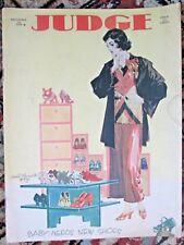 Dec.14 1929 JUDGE Magazine Nice Flapper in PJs Boudoir Cover Cartoons Inside