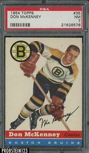 1954 Topps Hockey #35 Don McKenney Boston Bruins PSA 7 NM