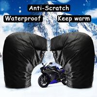 Motorcycle Bike Thermal Handlebar Grip Muffs Plush lined Gloves  Waterproof