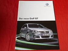 VW GOLF V GT prospetto + listino prezzi di 2006