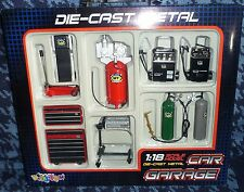 Die-cast Metal Car Garage Accessories 1:18 Scale by KinsFun