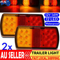 2x LED TRAILER LIGHTS TAIL LAMP STOP INDICATOR 12V BOAT SUBMERSIBLE