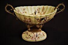 Porzellan Schale Obstschale Vase Bronze Schwäne