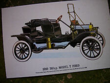 POST CARD OF 1910 20 h.p. MODEL T. FORD