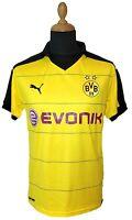 Borussia Dortmund Puma Trikot Evonik Gelb Heim M 2015-2016 Herren Bundesliga