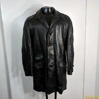 JUILLIARD soft Vintage 70s LEATHER JACKET Coat Mens  S Size 38 Black w/ liner