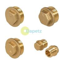 "Brass Flanged Plug Male Stop End Cap Threaded BSP 1 ""1/4 ""1/2""  3/4"""
