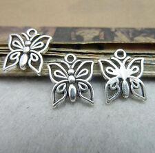 20pc Tibetan Silver Butterfly Animal Charms Beads Jewellery Beading Pendant PJ46