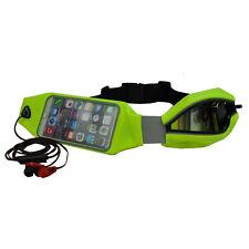 Cintura corsa marsupio running due tasche con finestra smartphone waist bag