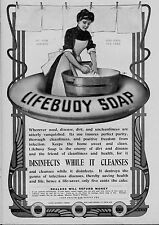 LIFEBUOY SOAP DISINFECTS WHILE IT CLEANSES DESTROYS INFECTIOUS DISEASE GERMS