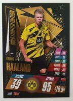 2020/21 Match Attax UEFA - Erling Haaland Gold Limited Edition LE9G Dortmund