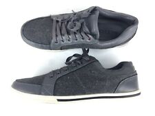 ALDO Men's 9 Sneakers Gray Lace Up Leather Low Top