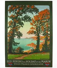 LES FOYERS DU SOLDAT, Y.M.C.A, Original Travel Poster, Constant Duval, ca.1918