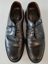 Vintage Super Stride Black Smooth Derby Dupont Corfam Dress Shoes Size 10.5 D