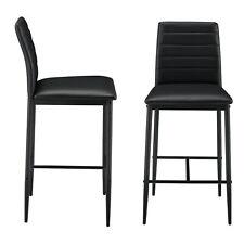 B-WARE 2x Barstuhl Barhocker Bistrohocker Küchenstuhl Stuhlset Stühle Schwarz