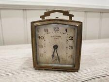 Ancien réveil BAYARD de luxe échappement ancre empierré ref 833.13