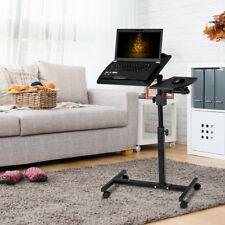 Adjustable Laptop Desk Portable Notebook Computer Table Stand Black W/ Wheels
