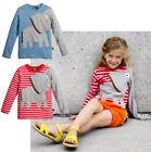 Elefant Farbe Blockmuster Kinder Kleidung Oberteile Jungen Mädchen Langärmelig