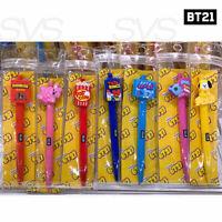 BTS BT21 Official Authentic Goods Gel Pen Snack Ver 7SET + Tracking Number