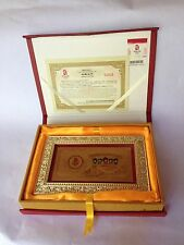 2008 Gold Official Olympics Commemorative Card Beijing New with Box