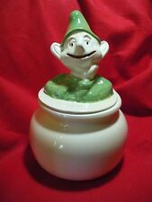 Smiling Leprechaun Cookie Jar California Pottery Doranne of California Elf Pixie