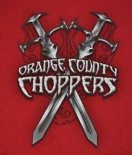 T-SHIRT L LARGE ORANGE COUNTY CHOPPERS AMERICAN CHOPPER DISCOVERY CHANNEL SHIRT