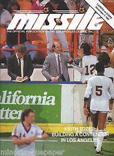 1987 Los Angeles Lazers vs. Tacoma Stars MISL Soccer Program - Keith Tozer