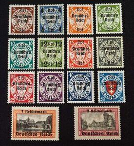 1939 Deutsches Reich; Serie Abschiedsserie  */MH, MiNr. 716/29, ME 65,-