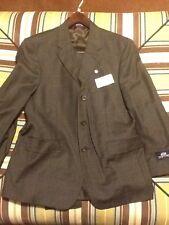 Stafford Mens Suit 40 35S Dark Brown Jacket Pant $325 NWT