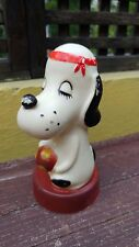 VTG & RARE HARD PLASTIC/VINYL COIN TOY BANK PEANUTS SNOOPY's BROTHER SPIKE??