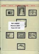 MONACO 2007  FEUILLES COMPLEMENTAIRES SAFE