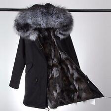 Black fox fur parka