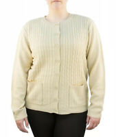 Yarn Art Women's Long Sleeve Two Pocket Cable Knit Cardigan Sweater 3X New