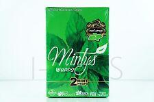 1 Box 25 Pouches(50 wraps) Mintys 100% Tobacco Fee GMO-FREE Organic Wraps