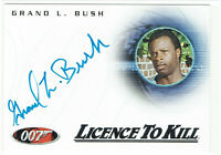 James Bond in Motion Autograph Card A114 Grand L Bush as Hawkins Licence to Kill