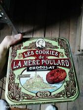 RARE GREEN LES COOKIES de LA MERE POULARD COLLECTORS boite ST-MICHEL FRANCE