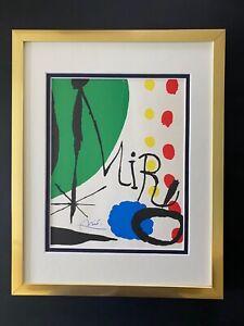 JOAN MIRO  1958 BEAUTIFUL SIGNED PRINT MATTED 11 X 14 + BUY IT NOW!!