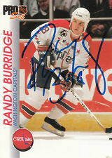 RANDY BURRIDGE CAPITALS AUTOGRAPH AUTO 92-93 PRO SET #207 *28342