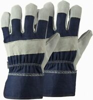 2 Pairs - Briers Rigger Gardening Gloves - B4300 - Navy - Large #1P17