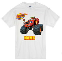 Blaze And The Monster Machines Personalised  T-shirts Any Name