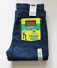 Wrangler 936 Cowboy Cut Rigid Slim Fit Jeans - 0936den 30 32