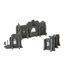 3 Part Wargaming Gothic Ruin Fantasy Terrain Building 28mm