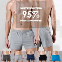 US HOT Men Underwear Breathable Shorts Easy Leisure Elastic Waistband Pockets Lo