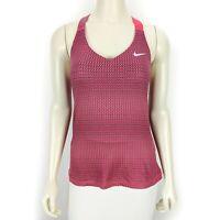 Nike Women's Dri-Fit Pink Gray Sleeveless Workout Activewear Tank Top Medium